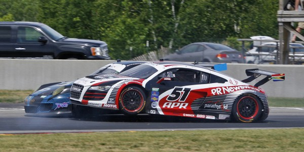 APR Audi R8 first makes with TRG Porsche 911 RSR.