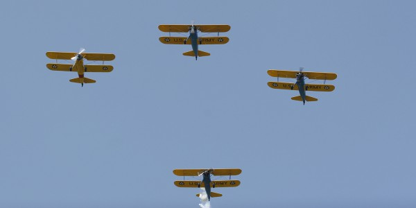 Four ship Stearman flight.