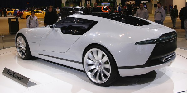 The Saab Aero X concept is an extremely sleek clean design. Note the lack of seams in the wrap around glass.